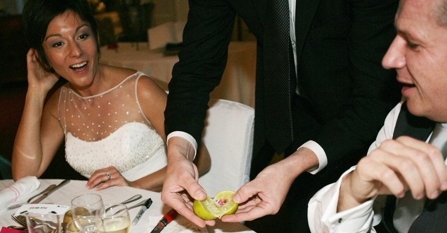 Diner mariage magicien